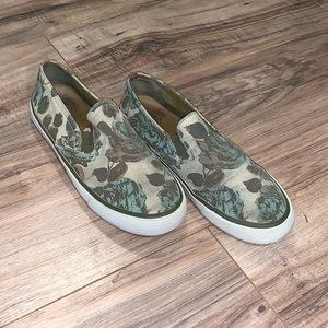 Tory Burch Floral Slip On Shoes Size 7